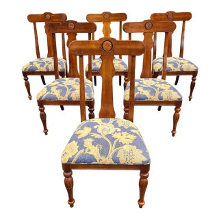 Contemporary Ethan Allen British Classics Maple Side Chairs #29-6400 - Set of 6 For Sale