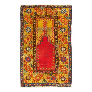 Early 20th Century Antique Turkish Konya Rug - 3′6″ × 5′6″ For Sale