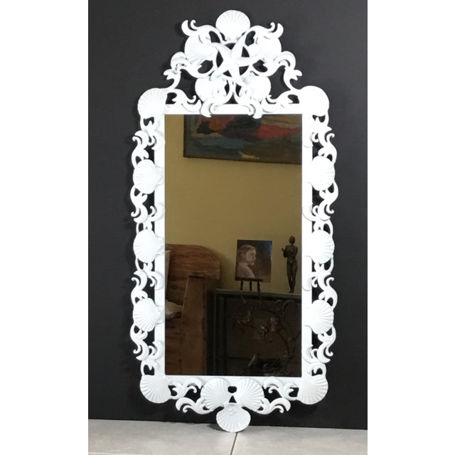 Seashell Iron Mirrors - a Pair For Sale - Image 12 of 13
