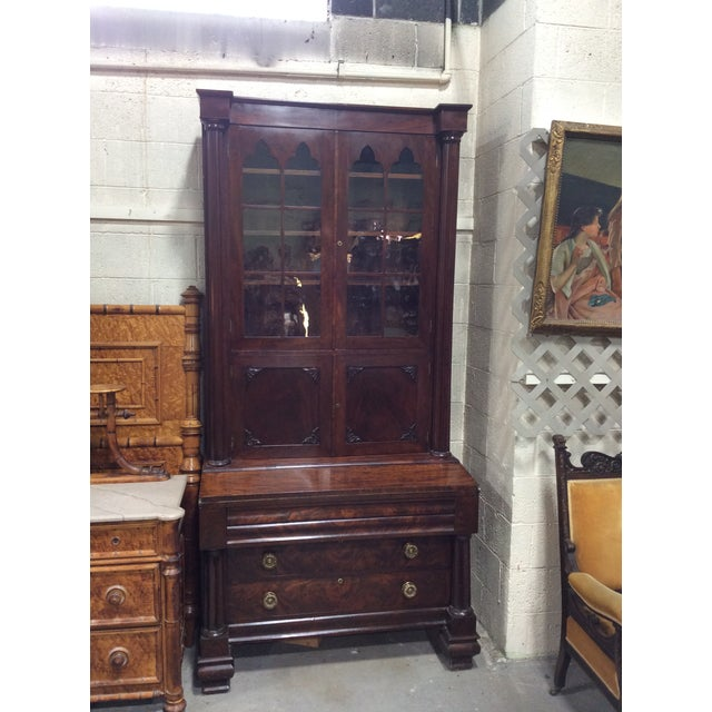 C1830 Mahogany Classical Secretary Desk For Sale - Image 9 of 9