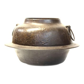 Japanese Antique Cast Iron Pot for Tea Ceremony For Sale