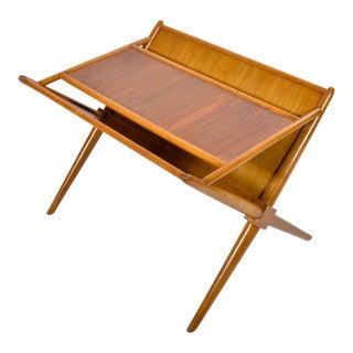 1950s Mid Century Modern Robsjohn Gibbings Widdicomb X Base Side Table For Sale