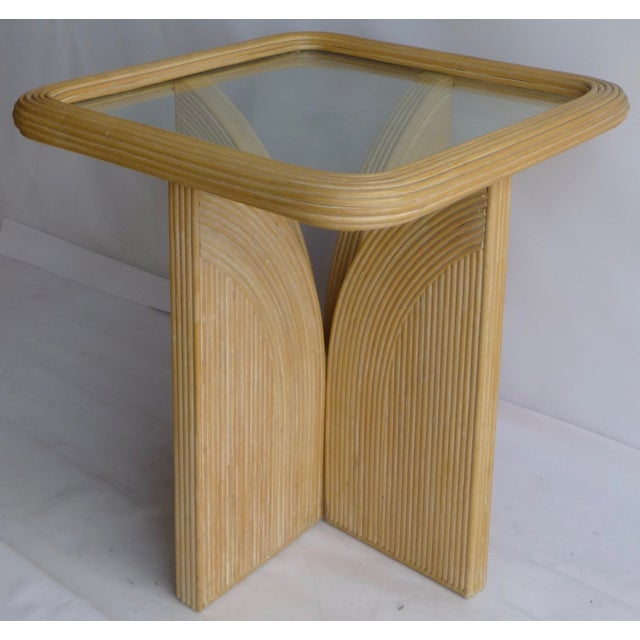 Mid-Century Modern Split Reed Table - Image 3 of 9