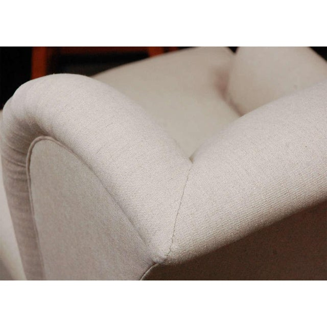 """Worrell"" by Lee Stanton English Wing Chair in Belgian Linen or Custom Fabric For Sale - Image 10 of 11"