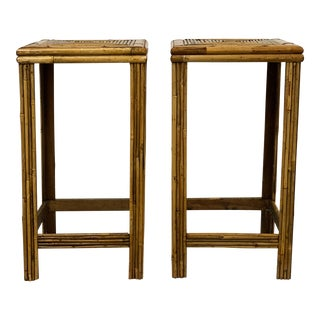 1980s Split Reed Stands - a Pair For Sale