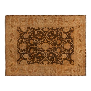 "New Gold Wash Indian Oushak Design Carpet - 9'1"" X 12' For Sale"