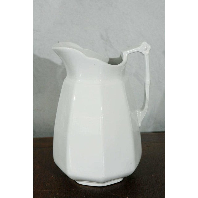 Ceramic 19th Century English White Ironstone Pitchers - Individual For Sale - Image 7 of 9