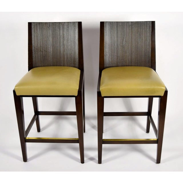 """Modern """"Kenya"""" Counterheight Barstools by Axis - A Pair For Sale - Image 3 of 8"""