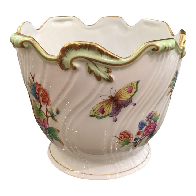 Herend Queen Victoria Porcelain Cache Pot - Image 1 of 5
