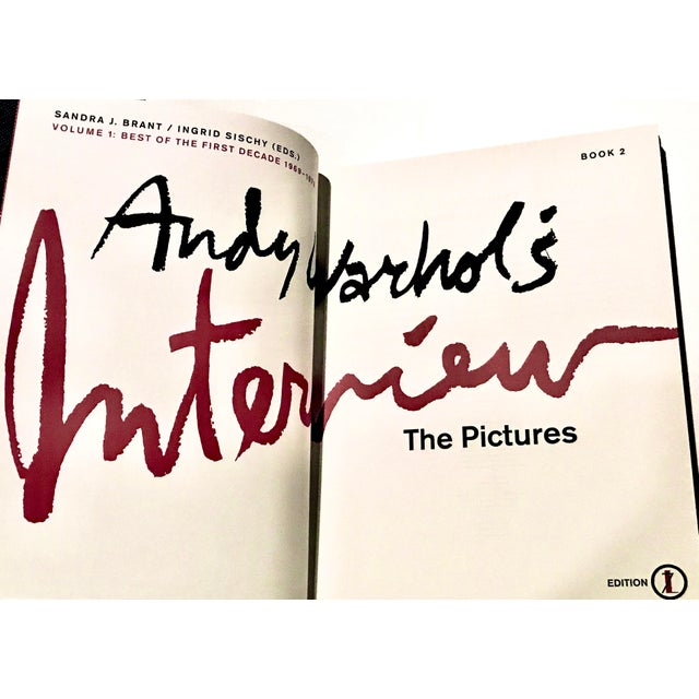 2000 - 2009 Andy Warhol's Interview Volume 1: Best Is the First Decade 1969-1979 Book 2 the Pictures by Sandra J. Brant / Ingrid Sischy (Eds) For Sale - Image 5 of 7