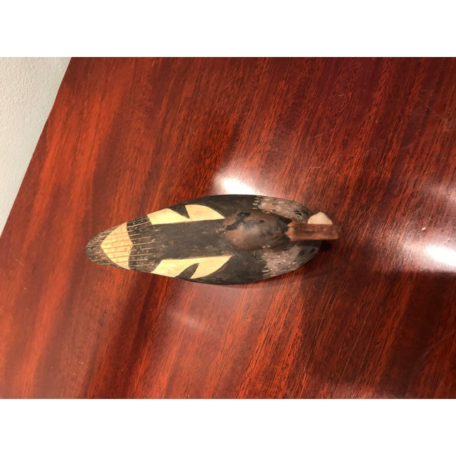 Hand Carved and hand painted wood Duck decoy. Signed D Adamo