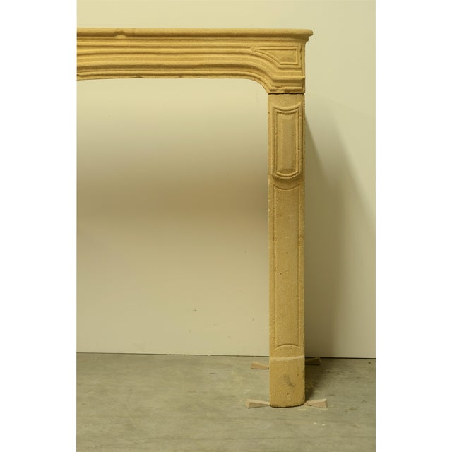 French Antique Limestone Fireplace From France, 19th Century For Sale - Image 3 of 12