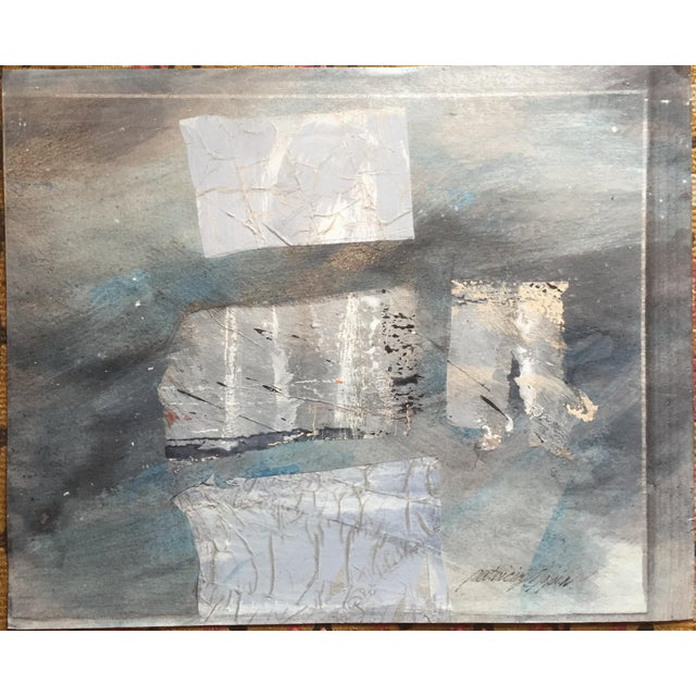 """Patricia Zippin Silver Paradigm 1980s Mixed Media 14.75""""x 12"""", unframed Signed and titled in ink on reverse Excellent..."""