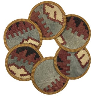 Kilim Coasters Set of 6 | İmamali For Sale