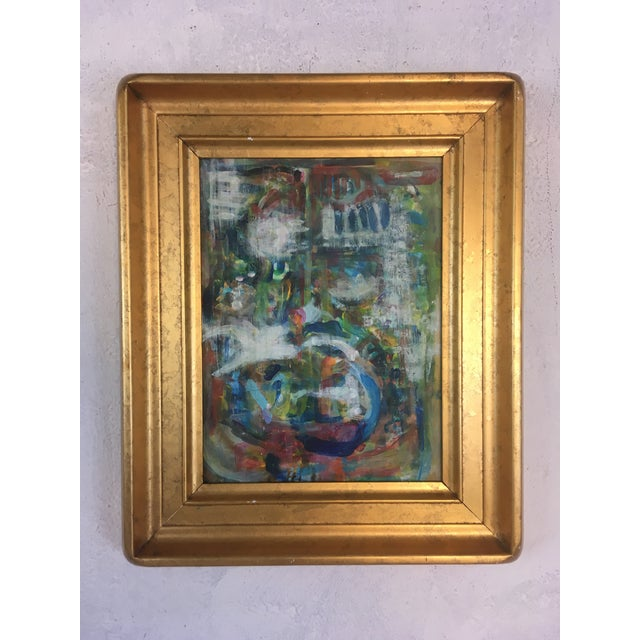 Canvas Framed Abstract, Oil on Canvas For Sale - Image 7 of 7