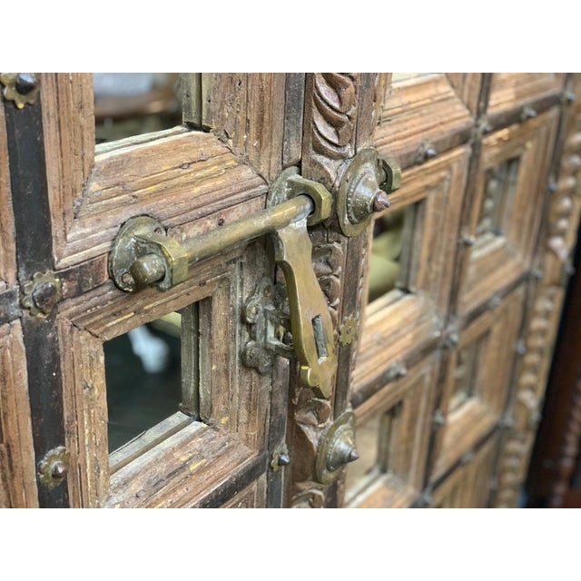 Mid 18th Century 18th Century Mughal Empire Wood Doors-a Pair For Sale - Image 5 of 7