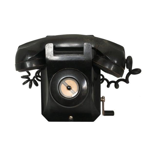 Stromberg Carlson Black Bakelite Crank Telephone - Image 1 of 8