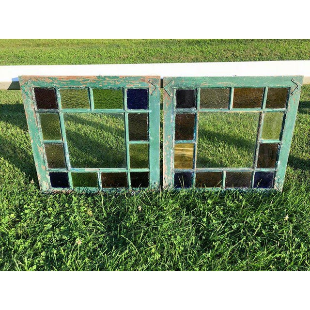 Stained Glass Windows - a Pair For Sale - Image 4 of 13