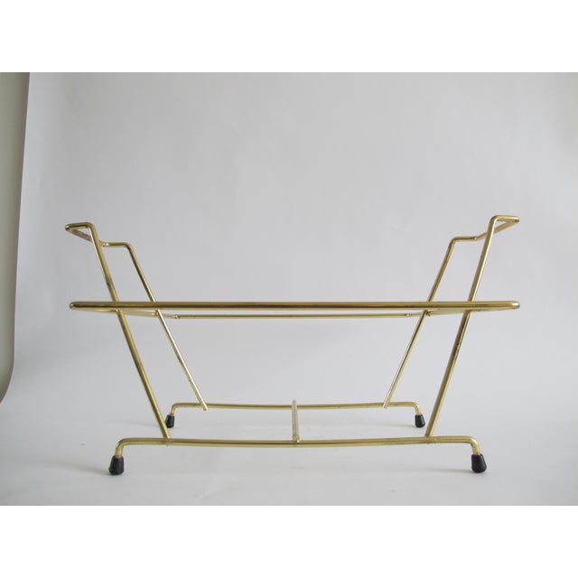 Mid-Century Brass Vinyl Holder - Image 2 of 3