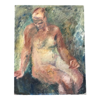 1950s Bay Area Figurative Female Nude Painting For Sale