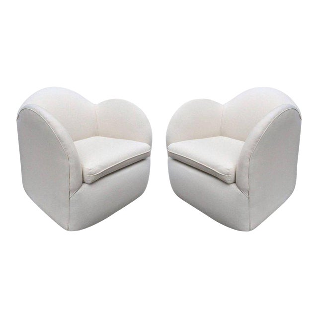 Pair of Art Deco Swivel Chairs For Sale