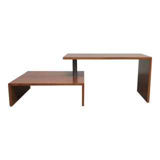 Achille Castiglione 1987 Zanotta 'Basello' Two-Tier Pivot Coffee Table For Sale
