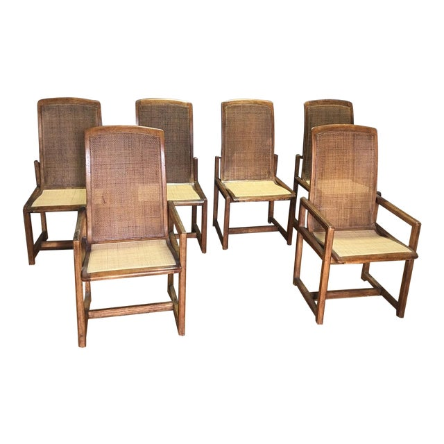 Drexel Heritage Cane Back Dining Chairs Set Of 6