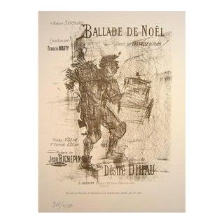 """1978 Original French Art Nouveau """"Ballade De Noel"""" Print Poster For Sale"""
