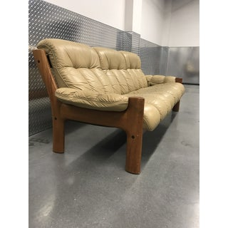 Ekornes Stressless Montana Solid Teak and Leather Sofa Preview