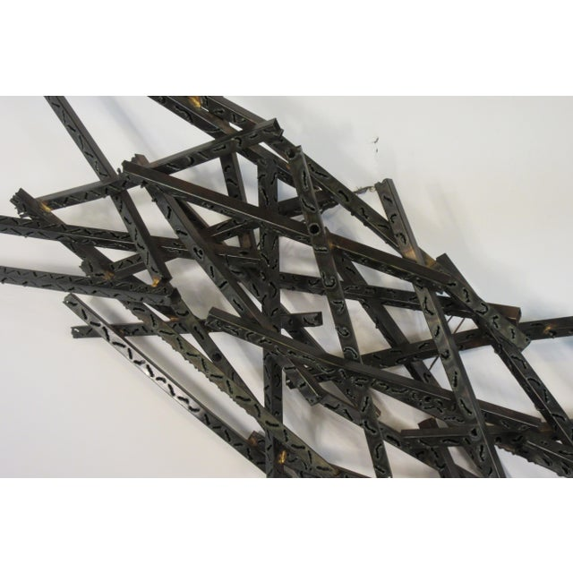 1970s Industrial Metal Wall Sculpture For Sale - Image 11 of 13