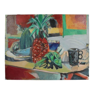 """Still Life With Pineapples"" Oil on Canvas, 1975 For Sale"