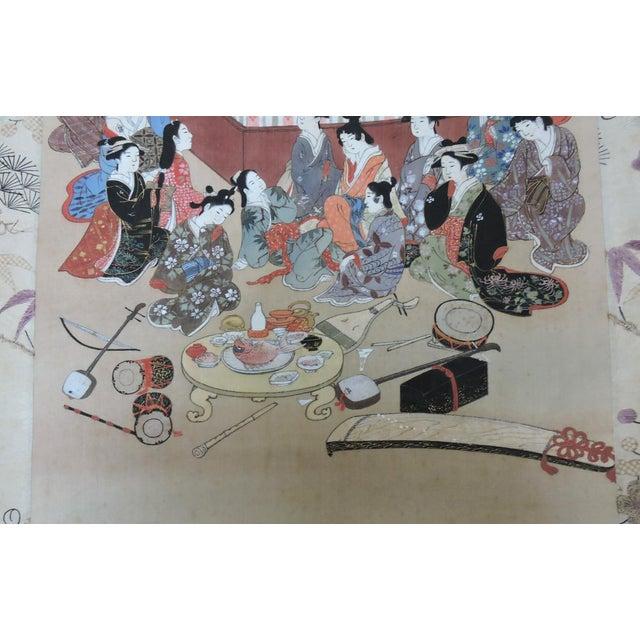 Antique 19th C. Japanese Scroll Painting - Edo Period Kakejiku For Sale - Image 4 of 8
