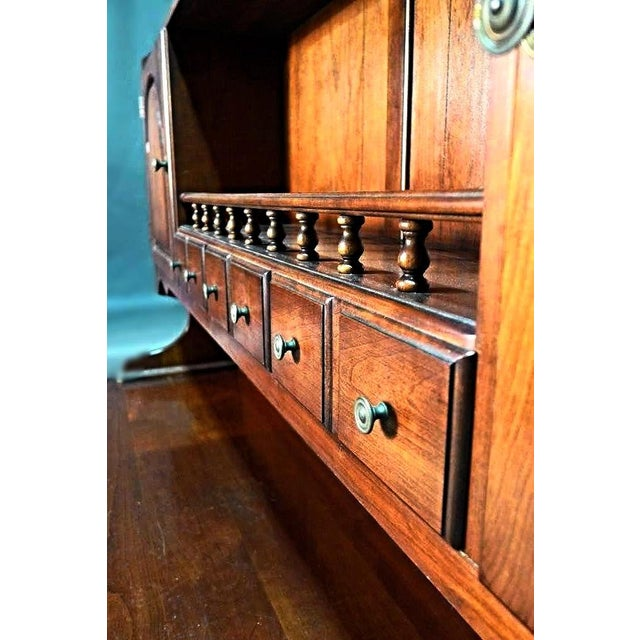 Pennsylvania House Pennsylvania House Early American Cherry Hutch For Sale - Image 4 of 10