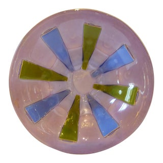 Michael & Frances Higgins Mid-Century Modern Fused Glass Bowl For Sale