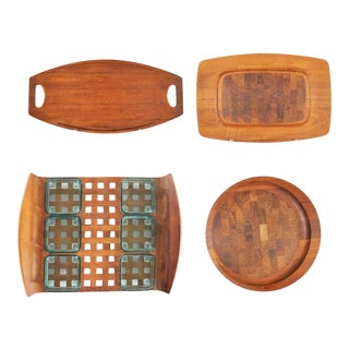 Selection of Dansk Designs Teak Trays or Cutting Boards by Jens Quistgaard For Sale