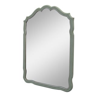 French Painted Wall Bedroom Bathroom Vanity Entryway Mirror by John Widdicomb Co. For Sale
