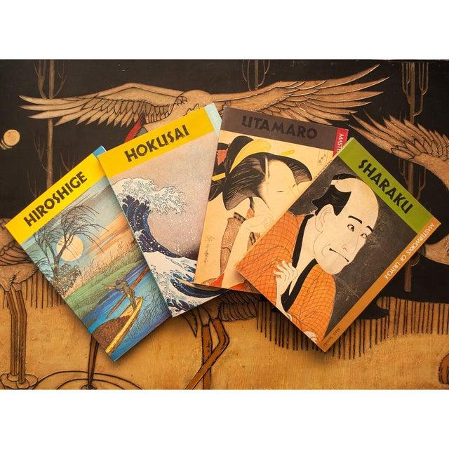 Hokusai, Hiroshige, Sharaku, Utamaro - Book Set of 4 For Sale - Image 12 of 13