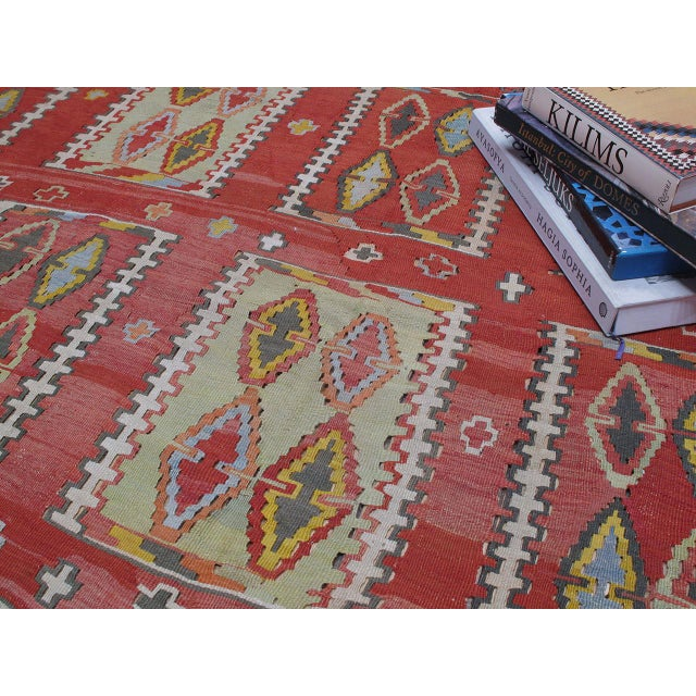 Textile Very Large and Exceptional Antique Sivas Kilim For Sale - Image 7 of 10