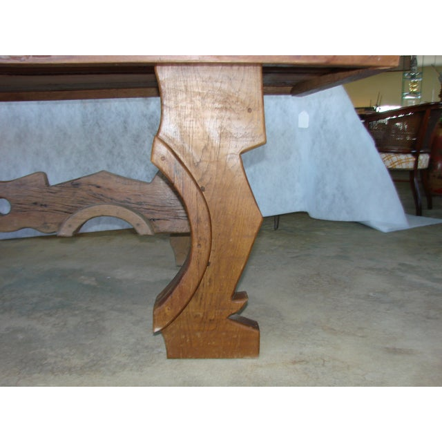Mexican Oak Dining Table - Image 6 of 8