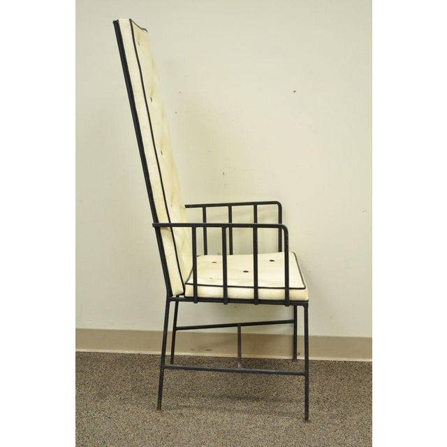 Paul McCobb Vintage Mid Century Modern Wrought Iron Arthur Umanoff Paul McCobb Arm Chair For Sale - Image 4 of 11