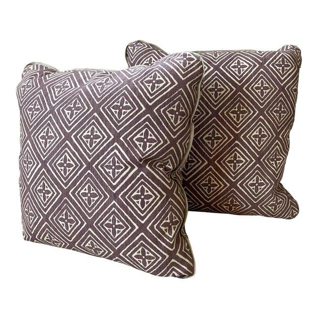 Quadrille China Seas Designer Made Fiorentina Throw Pillows - a Pair For Sale