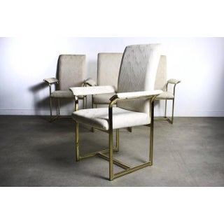 Set of Four Brass Dining Chairs Attributed to Milo Baughman Preview