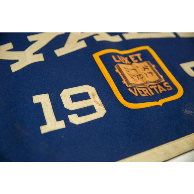 Vintage Yale 1951 Felt Banner For Sale In New York - Image 6 of 7