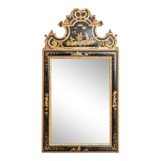 19th Century Antique Chinoiserie Gilt Wood Statement Mirror For Sale