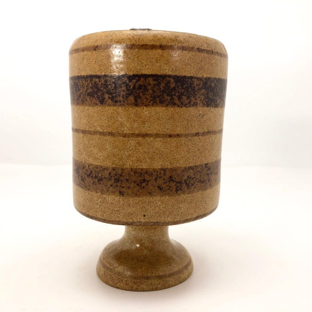 Mid-Century Pottery Craft California Brown on Brown Stoneware Bud Vase For Sale - Image 11 of 13