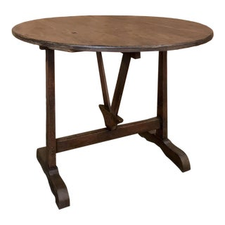 19th Century Tilt Top Country French Provincial Wine Tasting Table For Sale