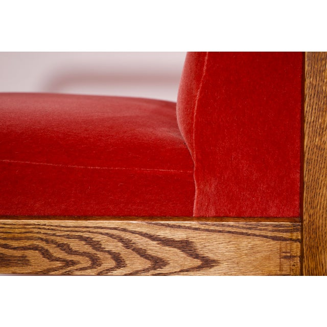 1970s Mid-Century Modern Crimson Mohair Accent Chairs - a Pair For Sale - Image 12 of 13