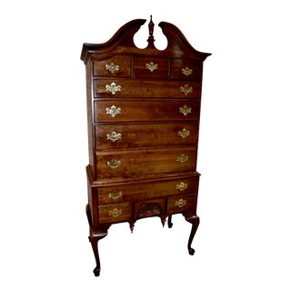 1960s Vintage Kling Queen Anne Style Highboy For Sale