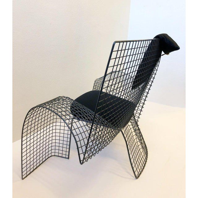 Gray Memphis Steel Mesh Chair by D'Urbino Lomazzi for Zerodesigno For Sale - Image 8 of 11