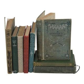 Vintage Shabby Books - Set of 8 For Sale